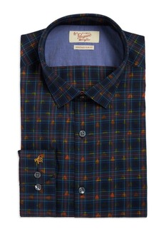 Penguin Slim Fit Plaid Dress Shirt