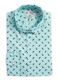 Penguin Slim-Fit Toucan Button-Collar Dress Shirt