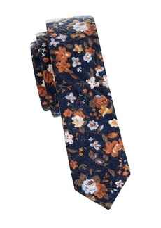 Penguin Slim Floral Cotton Tie