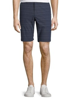 Penguin Straight-Fit Variegated-Stripe Shorts