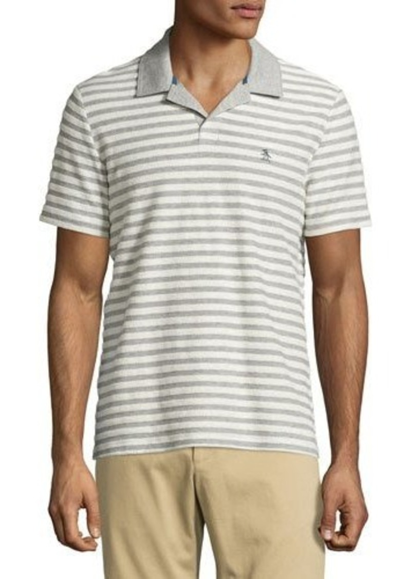 Penguin Striped Cotton Polo Shirt