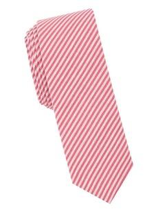 Penguin Striped-Print Slim Tie