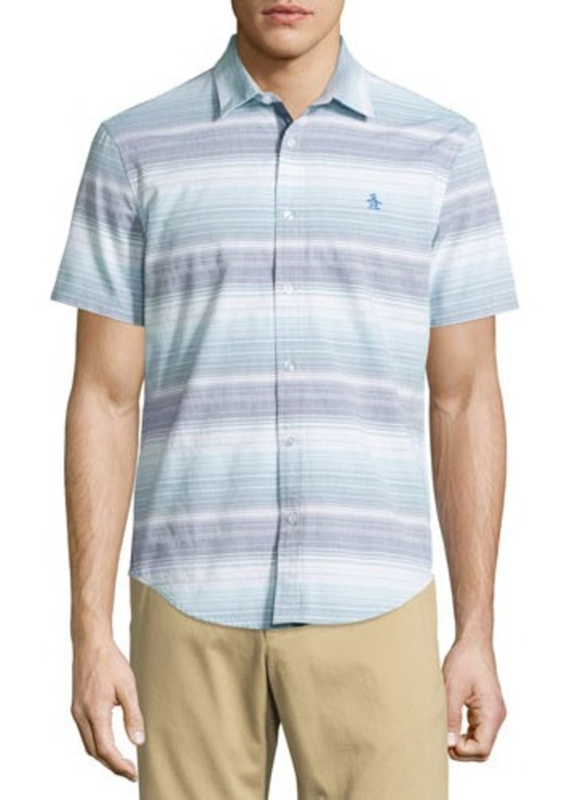 Penguin Striped Short-Sleeve Sport Shirt