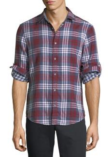Original Penguin Plaid Flannel Button-Front Shirt