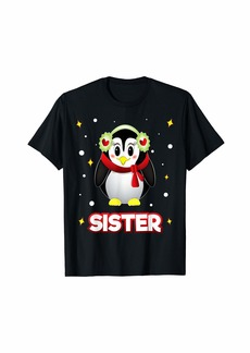 Sister Penguin Christmas Family Matching Xmas Holiday T-Shirt