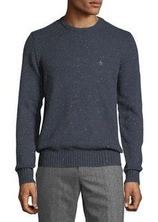 Penguin Speckled-Cotton Crewneck Sweater