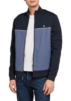 Original Penguin Zip-Front Colorblock Track Jacket