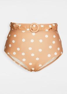 Peony Swimwear Macadamia High Pant Bikini Bottoms