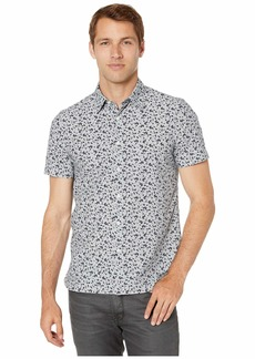 Perry Ellis Abstract Floral Print Shirt