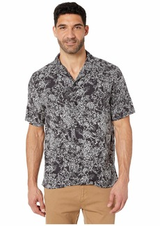 Perry Ellis Abstract Floral Print Short Sleeve Shirt