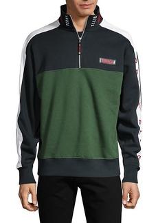 Perry Ellis America Colorblock Cotton-Blend Fleece Sweatshirt