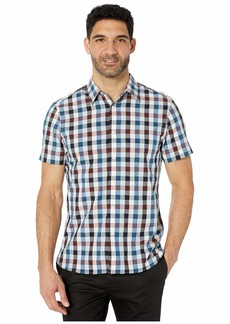 Perry Ellis Check Print Short Sleeve Shirt