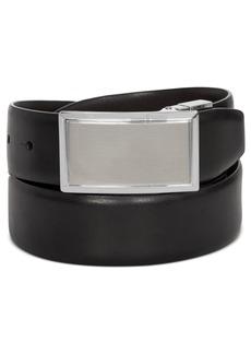 Closeout! Perry Ellis Men's Shiny Leather Reversible Plaque Belt