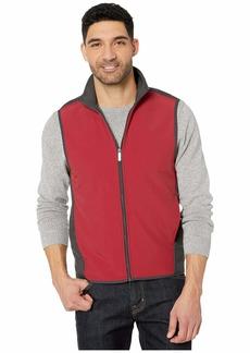 Perry Ellis Color Block Stretch Full Zip Fleece Vest