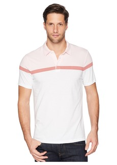 Perry Ellis Color Block Stripe Polo