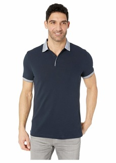 Perry Ellis Cotton Pique Three-Button Polo