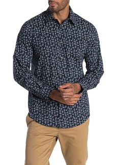 Perry Ellis Delight Print Long Sleeve Straight Fit Shirt