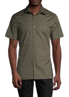 Perry Ellis Floral-Print Shirt