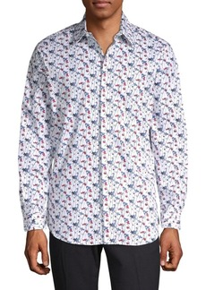 Perry Ellis Floral Stretch Cotton Sport Shirt