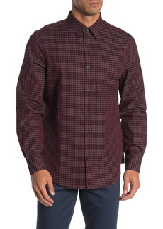 Perry Ellis Gingham Print Slim Fit Shirt
