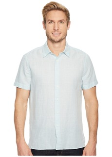 Perry Ellis Glen Plaid Linen Shirt
