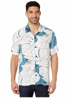 Perry Ellis Hibiscus Print Short Sleeve Shirt