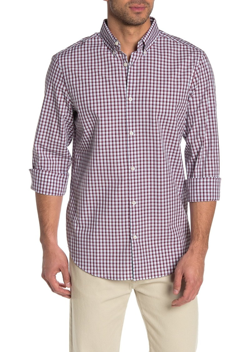 Perry Ellis Long Sleeve Check Print Slim Fit Shirt