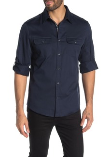 Perry Ellis Long Sleeve Patch Pocket Shirt