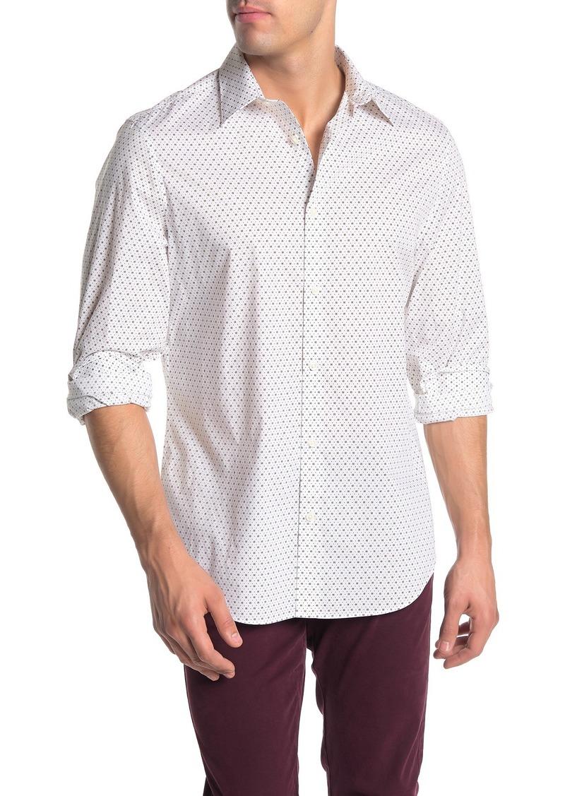 Perry Ellis Long Sleeve Printed Stretch Shirt