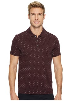 Perry Ellis Micro Print Pima Cotton Polo Shirt