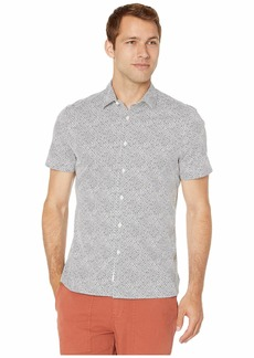 Perry Ellis Mini Circle Print Stretch Shirt