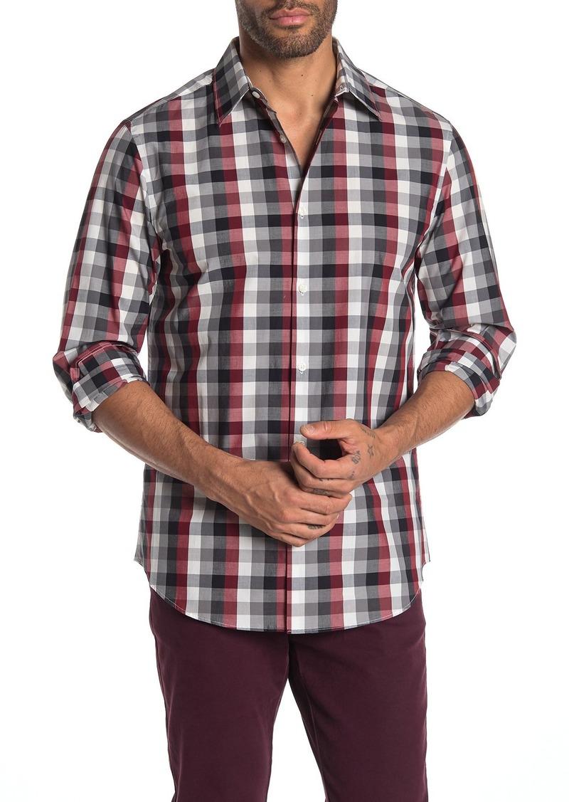 Perry Ellis Multi Check Print Slim Fit Shirt