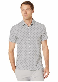 Perry Ellis Multi Dot Print Stretch Short Sleeve Shirt