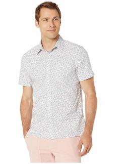 Perry Ellis Multicolor Fish Print Short Sleeve Shirt