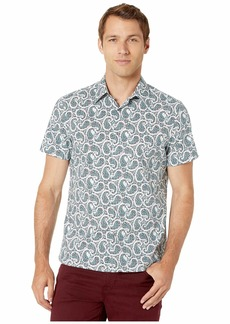 Perry Ellis Multicolor Paisley Print Short Sleeve Shirt