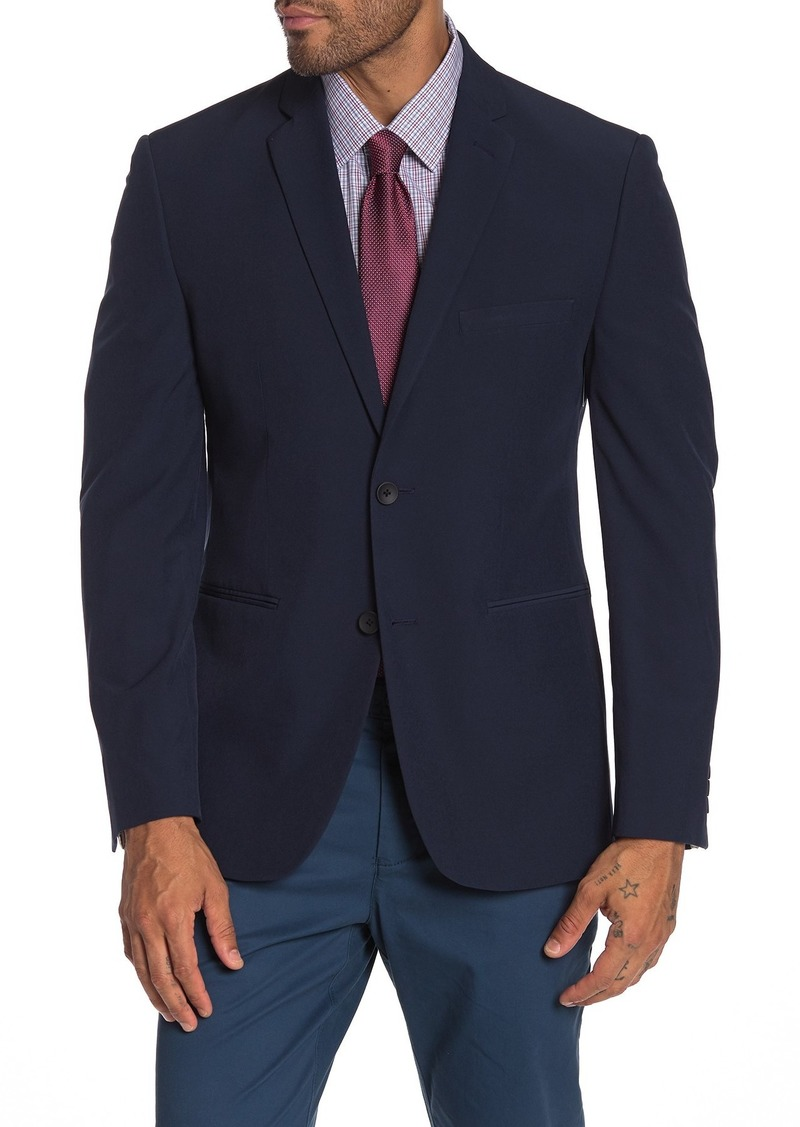 Perry Ellis Navy Solid Two Button Notch Lapel Performance Tech Very Slim Fit Suit Separates Jacket