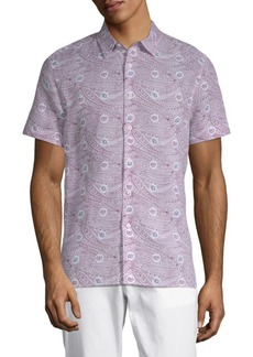 Perry Ellis Paisley-Print Button-Down Shirt