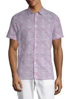 Perry Ellis Paisley-Print Button-Down Shirt