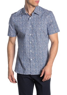 Perry Ellis Paisley Short Sleeve Stretch Fit Shirt