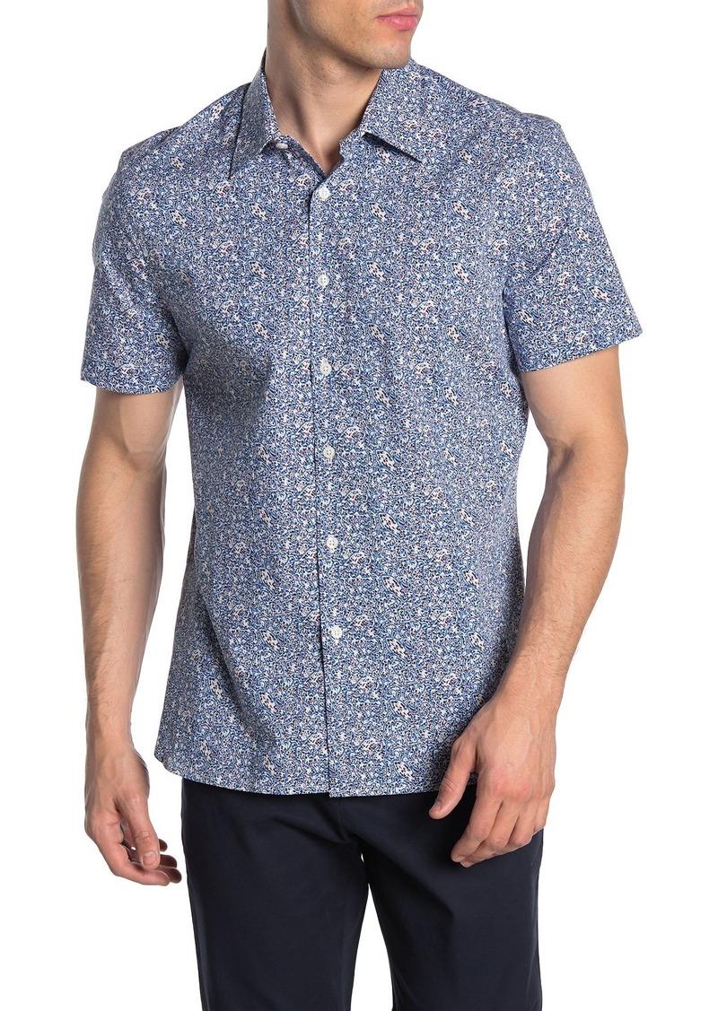Perry Ellis Paisley Short Sleeve Stretch Fit Shirt