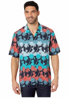 Perry Ellis Palm Print Short Sleeve Shirt