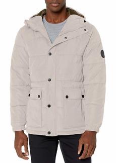 Perry Ellis - Men's Outerwear Men's Heavy Microfiber Puffer Jacket