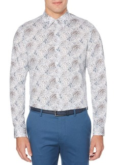 Perry Ellis Abstract Floral Long Sleeve Button-Down Shirt