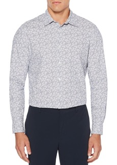 Perry Ellis Abstract Floral-Print Cotton Button-Down Shirt