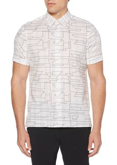 Perry Ellis Abstract Linear Short-Sleeve Shirt
