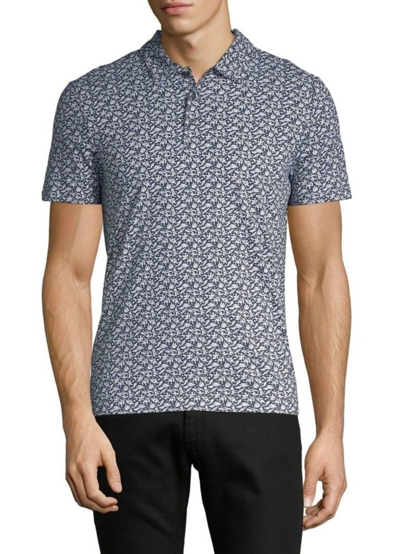 Perry Ellis Regular-Fit Pima Cotton Animal Print Polo