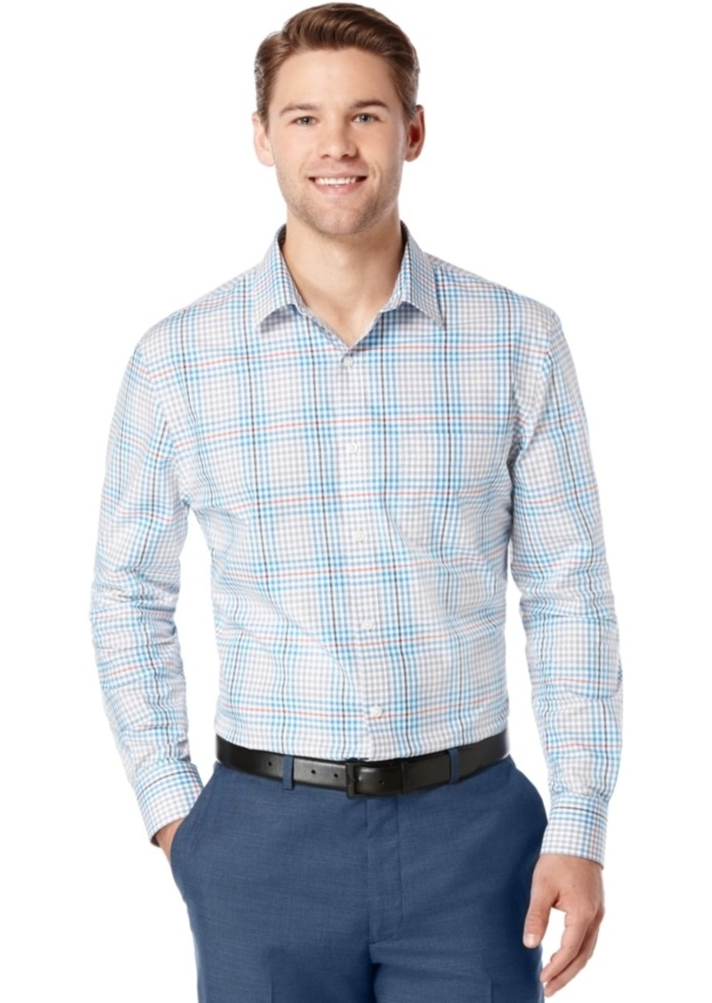 Perry Ellis Big and Tall Plaid Long-Sleeve Shirt