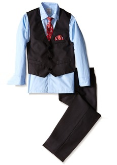 Perry Ellis Big Boys' Fine Pindot Vest Set
