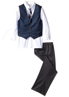 Perry Ellis Big Boys' Squaredot Vest Set
