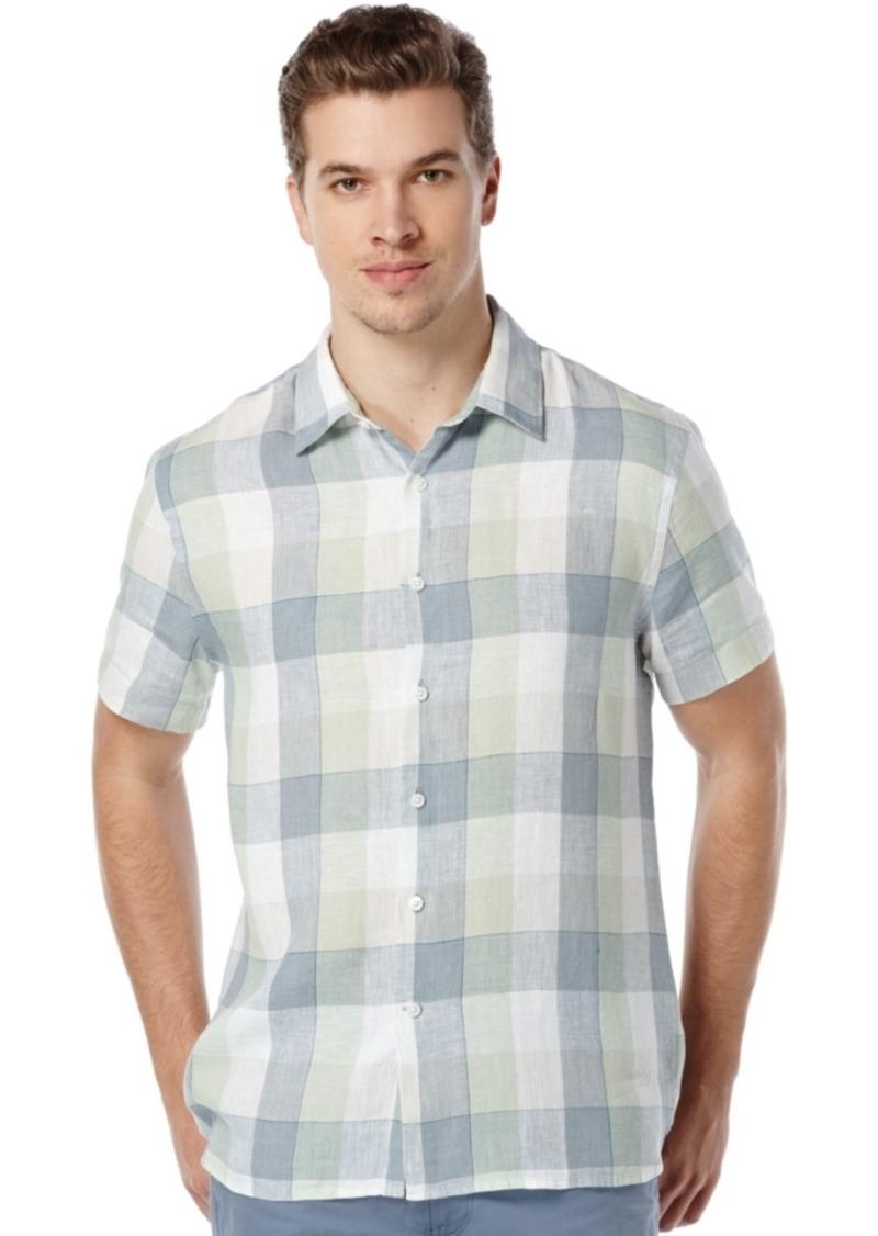 Perry Ellis Men's Big and Tall Buffalo-Check Shirt